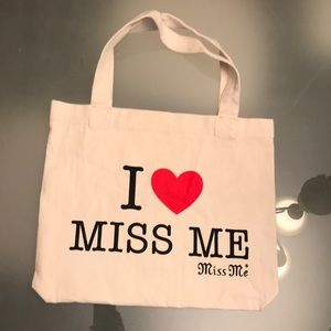 New! Miss me tote canvas